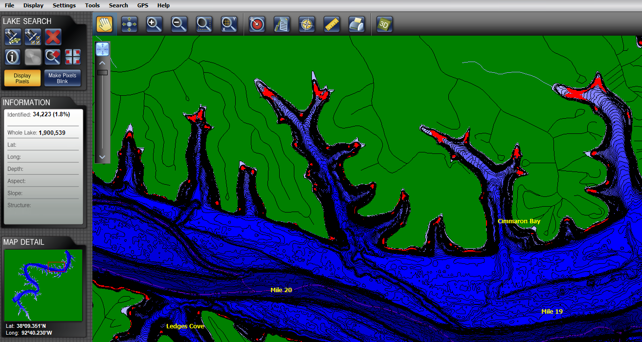 Contour elite screenshots contour elite fishing software for Crappie fishing lake of the ozarks